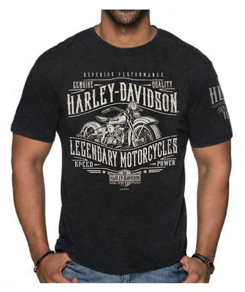 Leather Supreme Mens Live to Ride Skeleton Denim Cutoff Biker Shirt