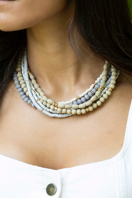 Mollie Gray Natural Wood Necklace
