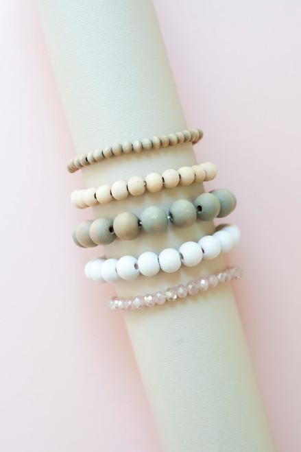 Vickie Wood Bracelet Set - Mint