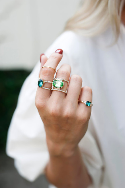 Sadie Ring Set - Emerald Green