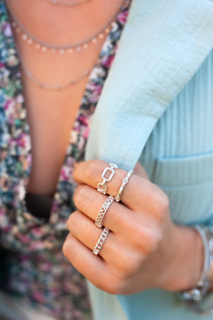 Chain Ring Set - Silver