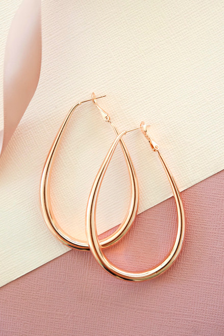 Belle Teardrop Earring - Rose Gold