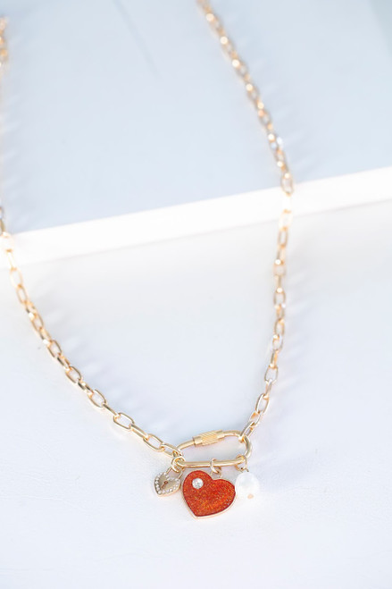 Julianna Caribiner Heart Necklace