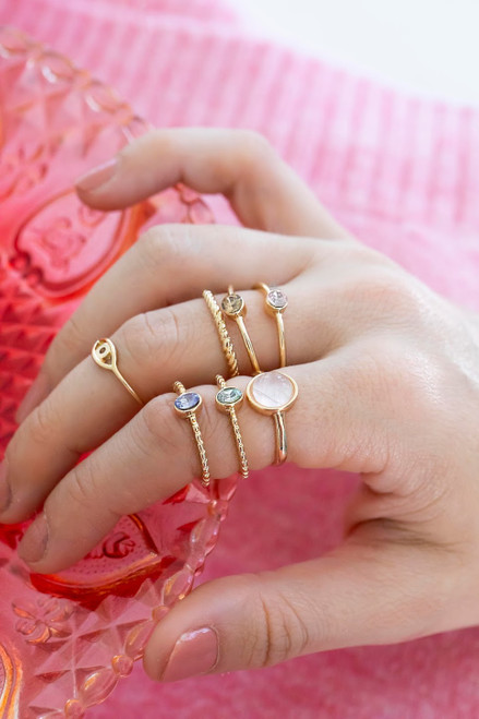 Stella Gemstone Ring Set