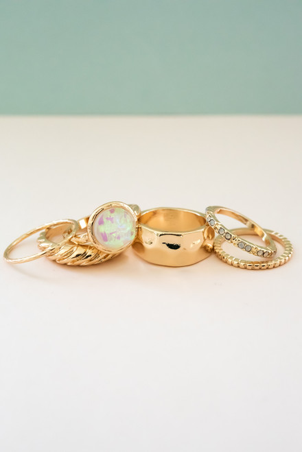 Opal Ring Set - 2 Colors