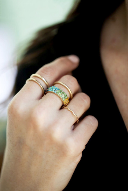 Rosie Ring Set - Rainbow