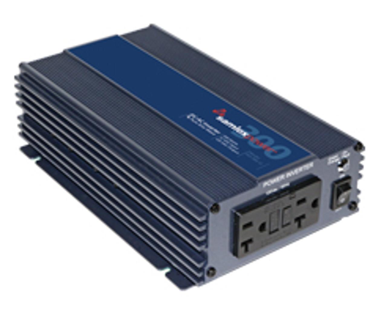 SamlexAmerica® PST-300-12 PST Series 300 Watt, 12VDC DC-to-AC Pure Sine  Wave Inverter w/ Detachable 12V Plug & Battery Clamp Cables