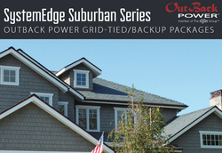 The SystemEdge Suburban Series grid-tie with backup battery power solution from Outback Power is the ultimate power solution for you home!
