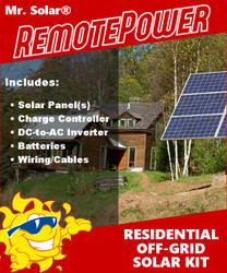 Mr. Solar® RemotePower 1120 Watt Large Off-Grid Solar Power System