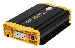 Go Power! GP-ISW1500-12 1500 watt, 12 volt pure sine wave inverter w/ two GFCI-equipped AC outlets