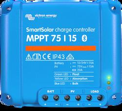 Victron Energy SCC075015060R SmartSolar 15 Amp 12/24/48V MPPT 75/15 Charge Controller