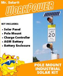 Mr. Solar® WorkPower 50 Watt Pole-Mount Solar Power Kit