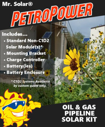 Mr. Solar® PetroPower 160 Watt Oil & Gas Pipeline Solar Kit