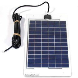 PowerUp BSP10-12-LSS 10 Watt, 12V Solar Panel with unbreakable durability and 15 feet of UV-resistant output power cable