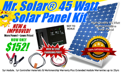 Mr. Solar® DIYPower 45 Watt Solar Panel Kit w/ USB Power/Charging Port