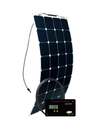 GO POWER! 100W Solar Flex Kit w/ 30A Digital Controller