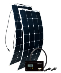 GO POWER! 200W Solar Flex Kit w/ 30A Digital Controller
