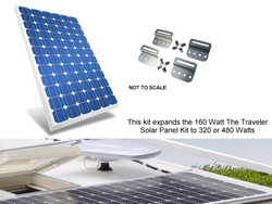 Expansion kit for The Traveler Expandable Solar Panel Kit.