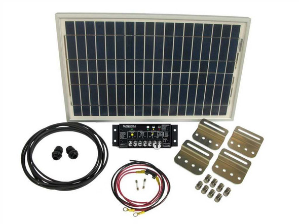 100 Watt Solar Panel Kit w/ Charge Controller, Battery, Wiring, and Mounting Brackets