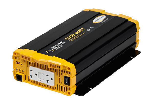 Go Power! GP-ISW1000-12 1000 watt, 12 volt pure sine wave inverter w/ two GFCI-equipped AC outlets