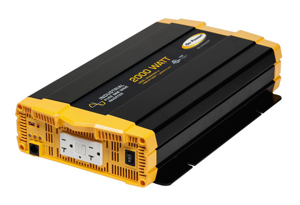 Go Power! GP-ISW2000-12 2000 watt, 12 volt pure sine wave inverter w/ two GFCI-equipped AC outlets