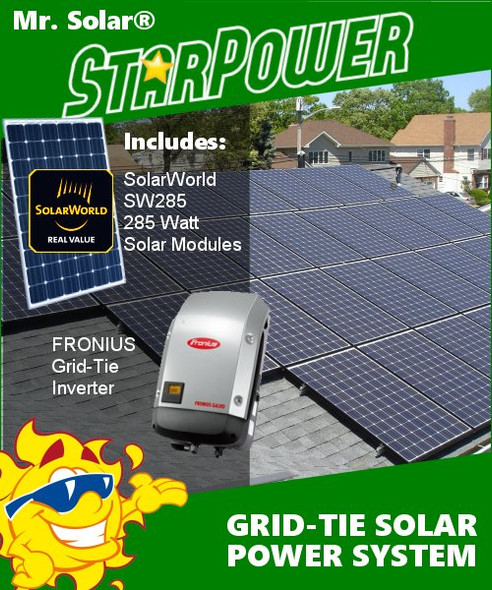 Mr. Solar® StarPower 11400 Watt Grid-Tie Solar Power System Kit