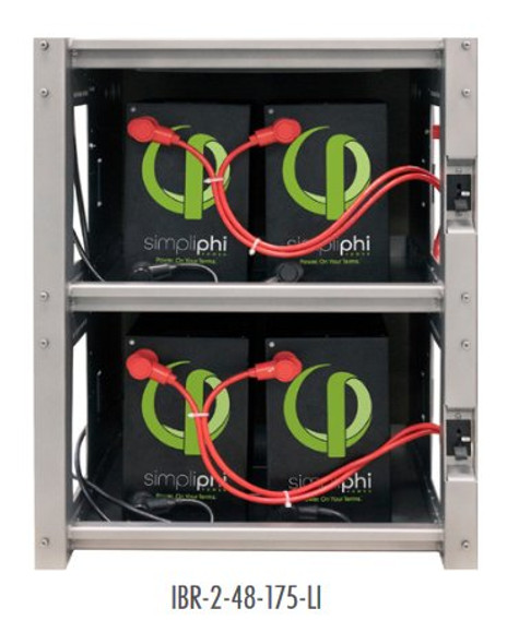 OutBack Power IBR-2-48-175-LI Integraged Battery Rack System for lithium ion batteries