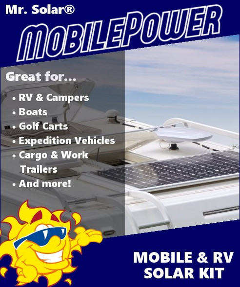 Mr. Solar® MobilePower 100 Watt RV & Marine Solar Power System Kit