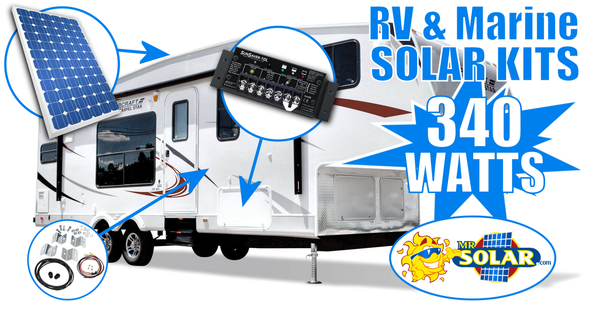 Mr. Solar® MobilePower 340 Watt RV & Marine Solar Power System Kit