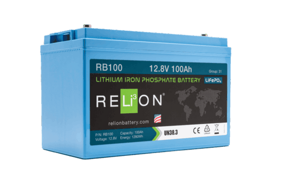 RELiON RB100 12V 100Ah LiFePO4 Deep Cycle Battery