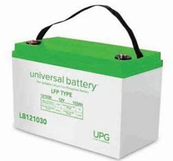 Universal Power Group LB121030 103 Ah 12 Volt Lithium Battery