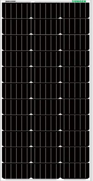 Sungen SG-M-100 100 Watt, 12V Mono Sleek Black Solar Panel