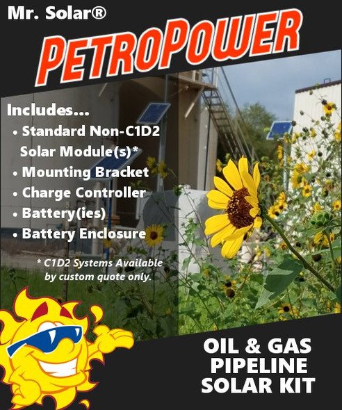 Mr. Solar® PetroPower 50 Watt Oil & Gas Pipeline Solar Kit