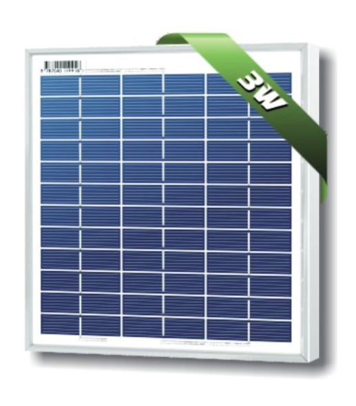 SolarLand SLP003-12U 3W 12V Solar Panel