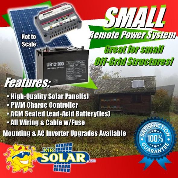 Mr. Solar® RemotePower 150 Watt Small Remote Power System Kit
