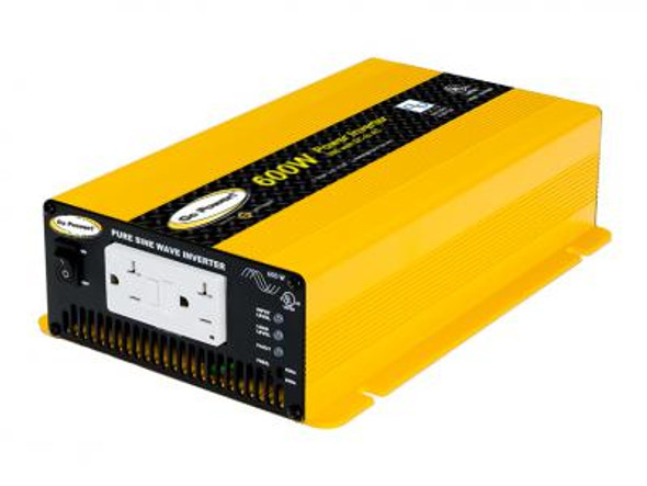 GO POWER! 600W Pure Sine Wave Inverter - 12V