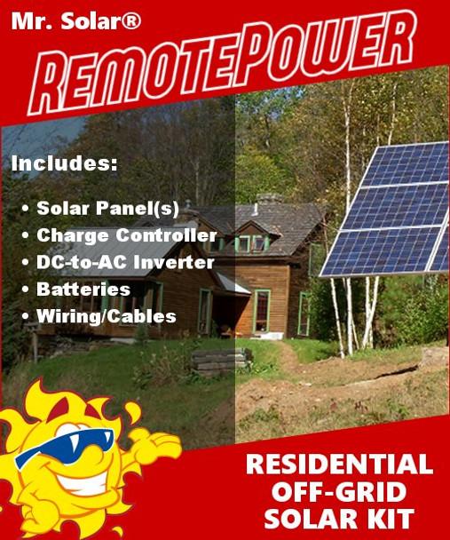 Mr. Solar® RemotePower 1120 Watt Large Off-Grid Solar Power System
