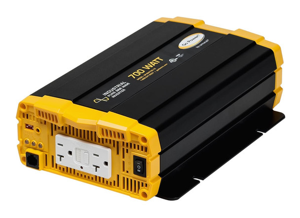 Go Power! GP-ISW700-24 700 watt, 24 volt pure sine wave inverter w/ two GFCI-equipped AC outlets