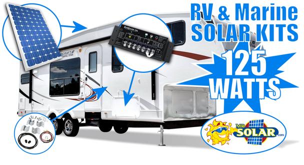 Mr. Solar® MobilePower 125 Watt RV & Marine Solar Power System Kit