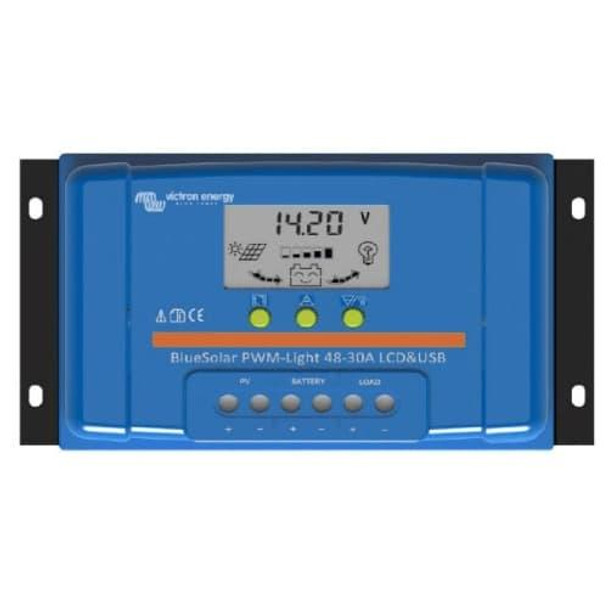 Victron Energy SCC040010050 BlueSolar 10 Amp 48V PWM-LCD Charge Controller