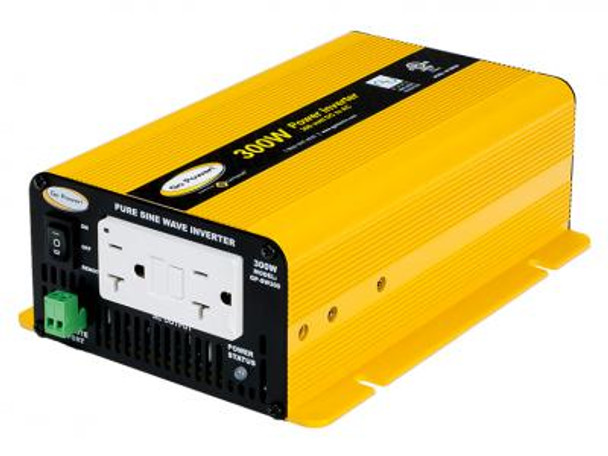 GO POWER! 300W Pure Sine Wave Inverter - 12V
