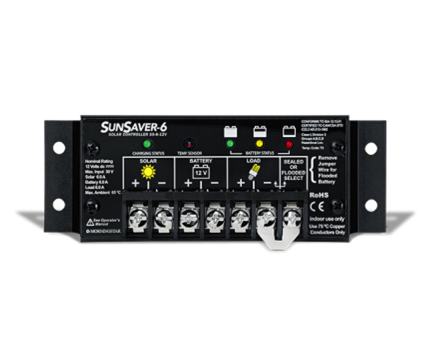 Morningstar SunSaver SS-6L-12 Charge Controller