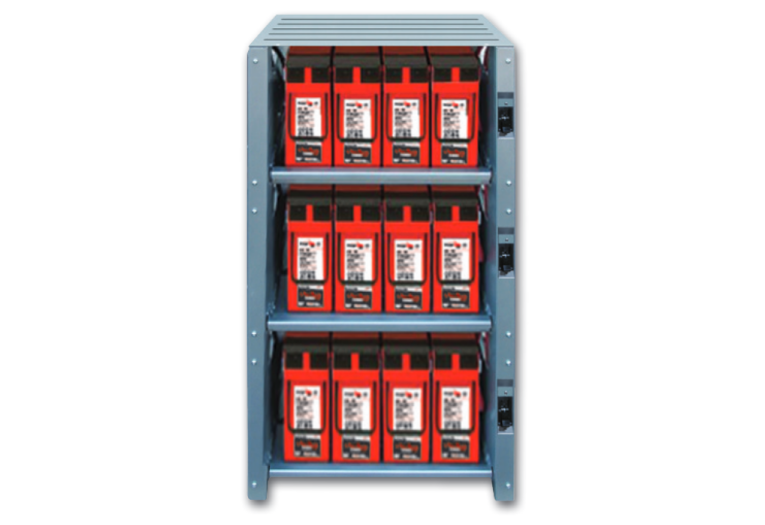 EnergyCell 200GH Batterie Bank with cabinet racking