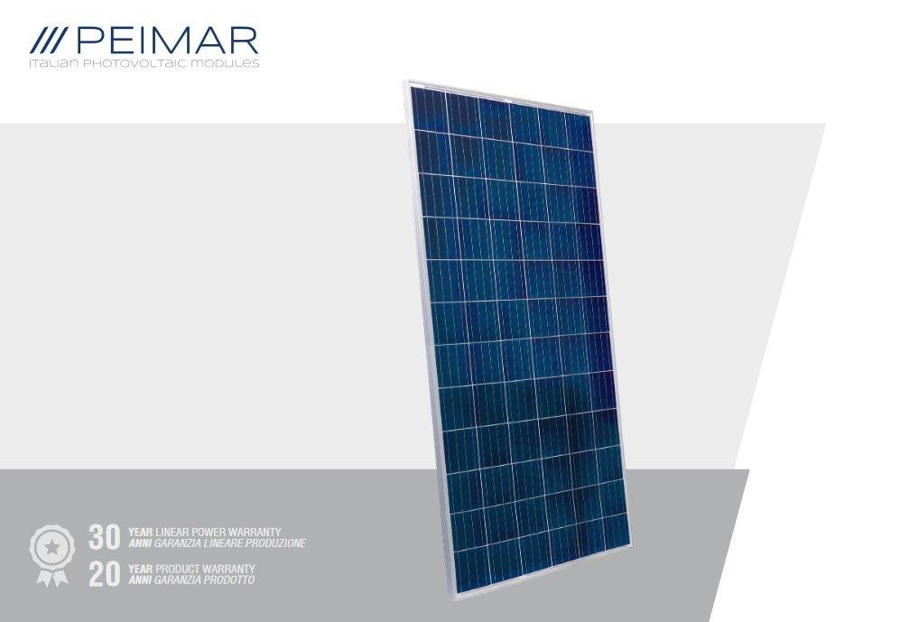 Peimar Commercial 330 watt poly solar panel featuring 30yr warranty!