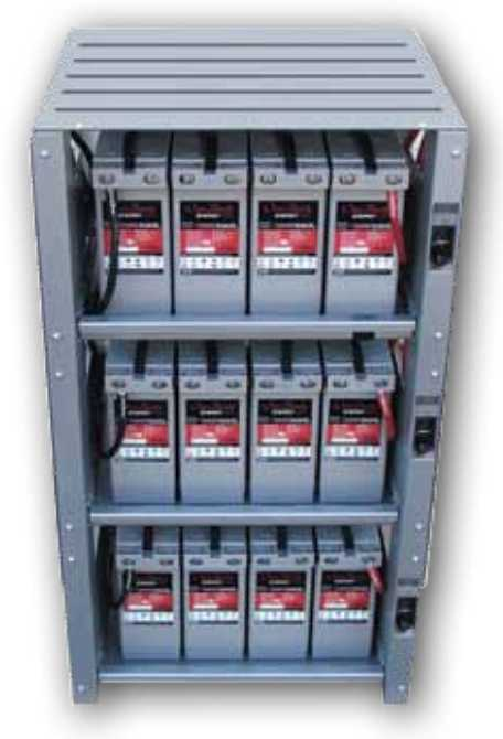 Outback Indoor 3 Shelf Integrated Battery Rack