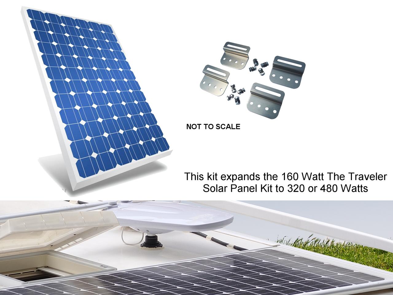 Mr. Solar® DIYPower The Traveler EK 160 Watt, Expansion Kit for The Traveler Solar Panel Kit (TRVLR-160)