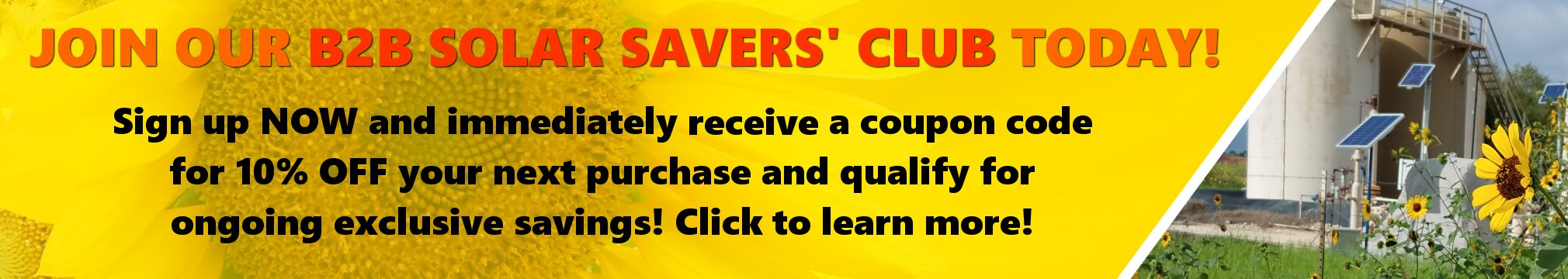 Join our B2B Solar Savers' Club and SAVE!