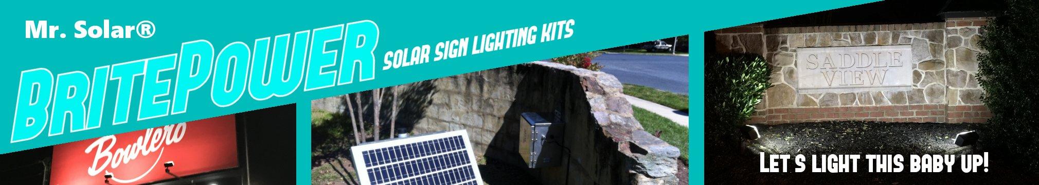 Mr. Solar® is your B2B Solar Sign Lighting Headquarters!