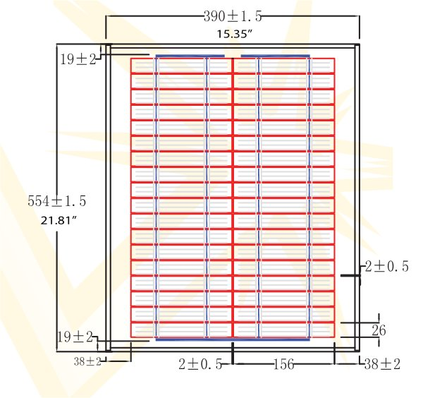 BSP20-12 20 Watt, 12V Solar Panel Module Diagram