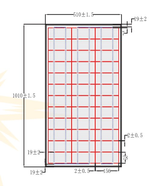 BSP65-12 65 Watt, 12 Volt Solar Panel Module Diagram
